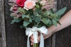bridesmaid rose bouquets